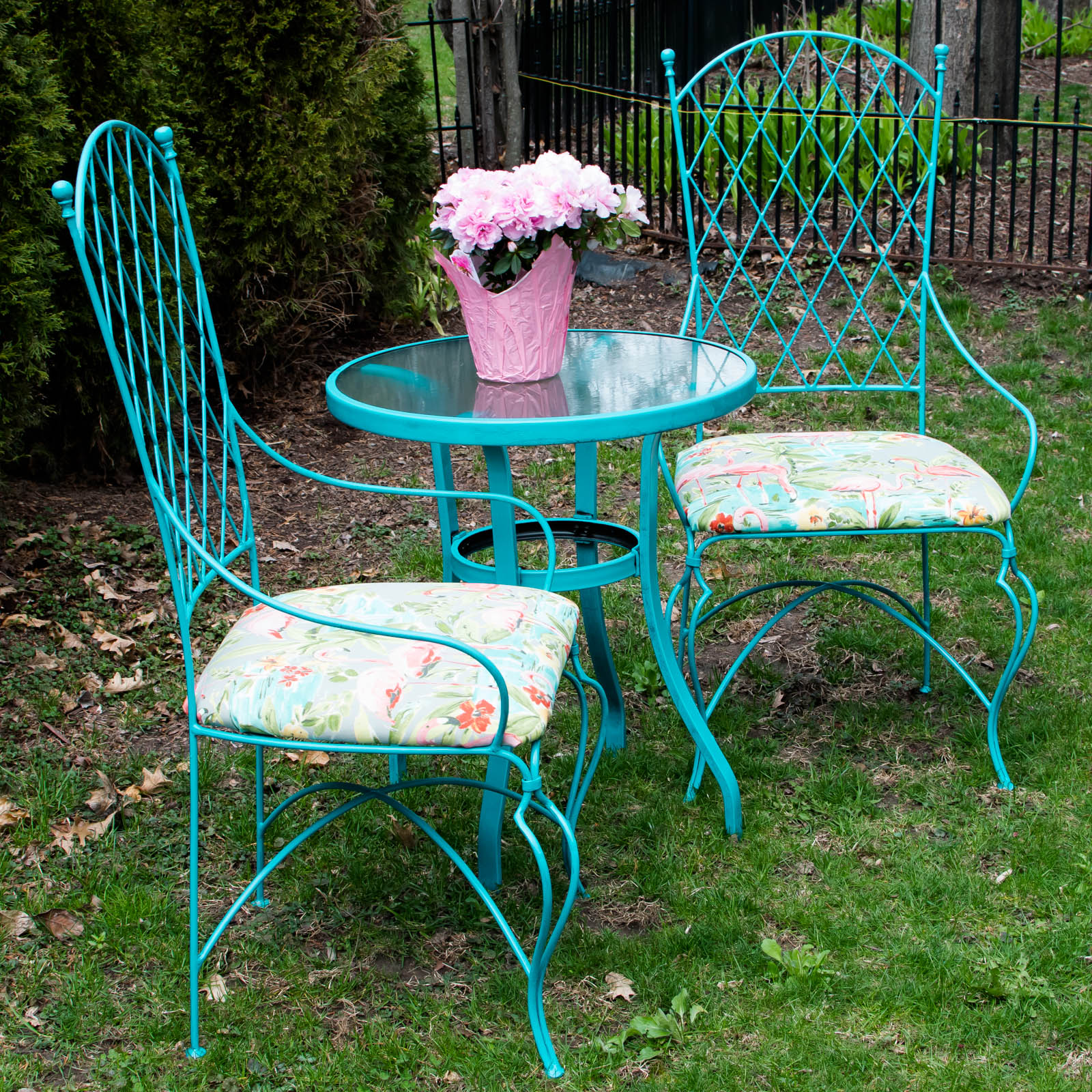 Wrought Iron Chairs, Easy Update|Designers Sweet Spot|www.designerssweetspot.com